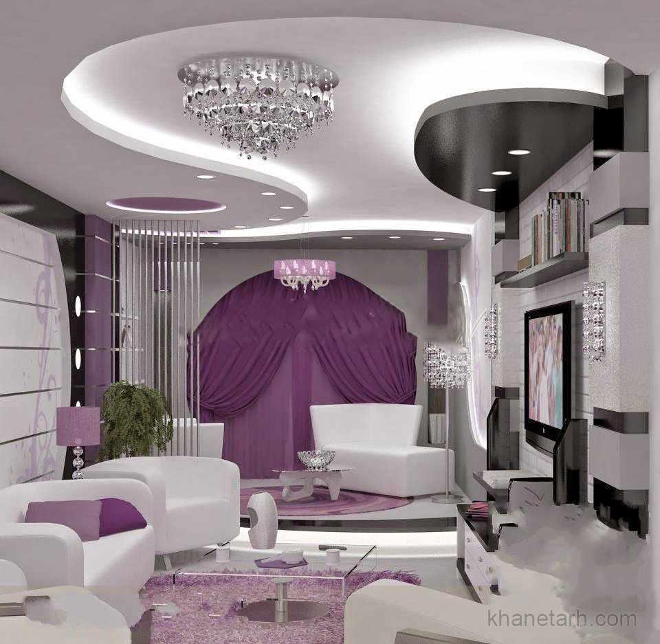 Modern Interior Decoration Living Rooms Ceiling Designs: انواع مدل و طرح های کناف سقف