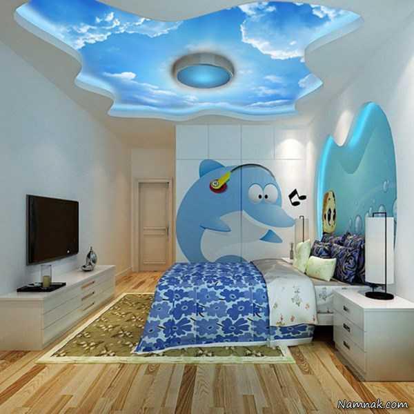 ایده هایی برای دکوراسیون و سقف اتاق کودک و تزئین اتاق