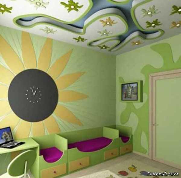 سقف کناف, سقف کاذب, سقف اتاق کودک, دکوراسیون اتاق کودک, تزیین اتاق کودک, اتاق کودک دختر, اتاق کودک پسر | %da%a9%d9%86%d8%a7%d9%81-%d8%b3%d9%82%d9%81-%d9%88-%d8%af%db%8c%d9%88%d8%a7%d8%b1-%da%a9%d8%a7%d8%b0%d8%a8 | دکوراسیون ساختمان دکوروز