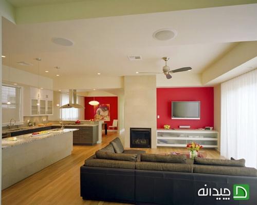 کاغذ دیواری دیوار پشت تلویزیون, طراحی دیوار پشت تلویزیون, دیوار پشت تلویزیون, دکوراسیون دیوار پشت تلویزیون, تزیین دیوار پشت تلویزیون | wall-decor, wall-decor-blog | دکوراسیون ساختمان دکوروز