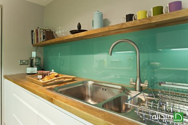 کاشی فیروزه ای, دیوارپوش شیشه ای, دیوارپوش, دیوار سنگی, دیوار بین کابینت آشپزخانه, دیوار بین کابینت, دیوار با شیشه رنگی, دیوار آینه ای, دیوار آشپزخانه, دیوار آجری, پنجره نیمه شفاف   floor-decor, floor-decor-blog   دکوراسیون ساختمان دکوروز