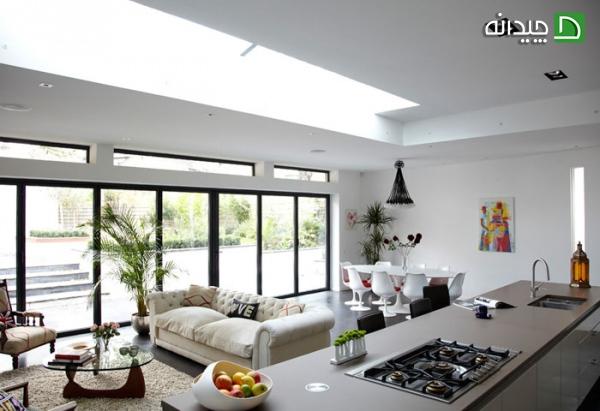 نورپردازی دیوار سفید, رنگ سفید دیوار, رنگ سفید, دیوارپوش, دیوار سفید | floor-decor, floor-decor-blog | دکوراسیون ساختمان دکوروز