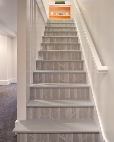 کاغذ دیواری راه پله, کاغذ دیواری دیوار پله, قاب کاغذ دیواری, تکه کاغذ دیواری | wall-decor, wall-decor-blog | دکوراسیون ساختمان دکوروز