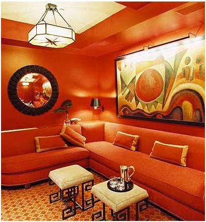 کاغذ دیواری نارنجی, کاغذ دیواری رنگ شاد, کاغذ دیواری آبی, کاغذ دیواری, رنگ کاغذ دیواری | wall-decor, wall-decor-blog | دکوراسیون ساختمان دکوروز