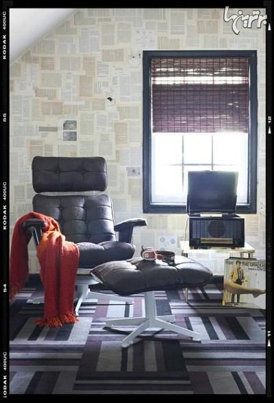 نصب کاغذ دیواری, کاغذ دیواری با کتاب, کاغذ دیواری | wall-decor, wall-decor-blog | دکوراسیون ساختمان دکوروز