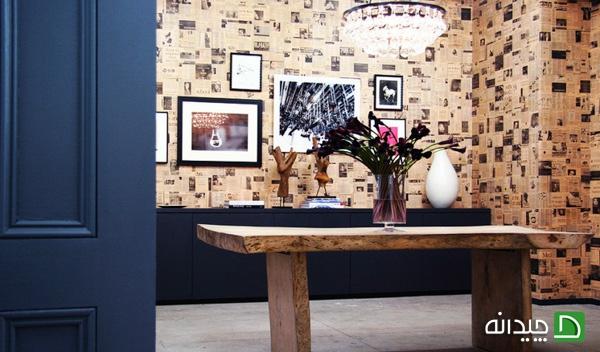 کاغذ دیواری با روزنامه, تزئین دیوار | wall-decor, wall-decor-blog | دکوراسیون ساختمان دکوروز