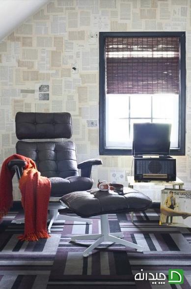 کاغذ دیواری هندسی, کاغذ دیواری نقشه, کاغذ دیواری منزل, کاغذ دیواری پشت تخت خواب, کاغذ دیواری بالای شومینه, کاغذ دیواری, انواع کاغذ دیواری اتاق کودک, انواع کاغذ دیواری   wall-decor, wall-decor-blog   دکوراسیون ساختمان دکوروز