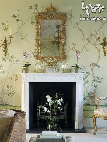 کاغذ دیواری مدرن, کاغذ دیواری گلدار, کاغذ دیواری پذیرایی   wall-decor, wall-decor-blog   دکوراسیون ساختمان دکوروز